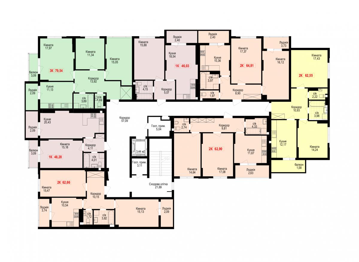 7 під'їзд: Планування квартир