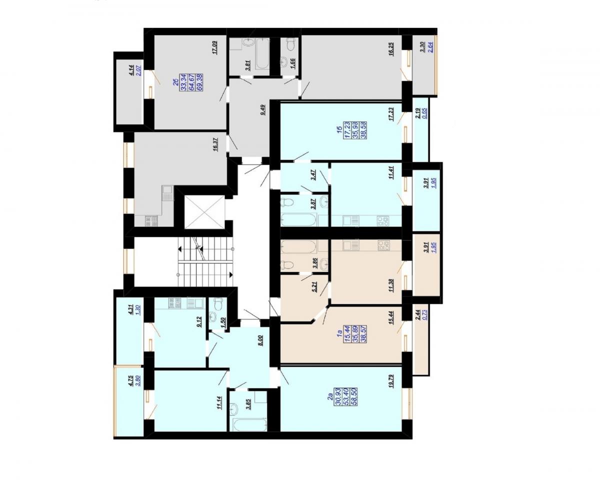 3 під'їзд: Планування квартир