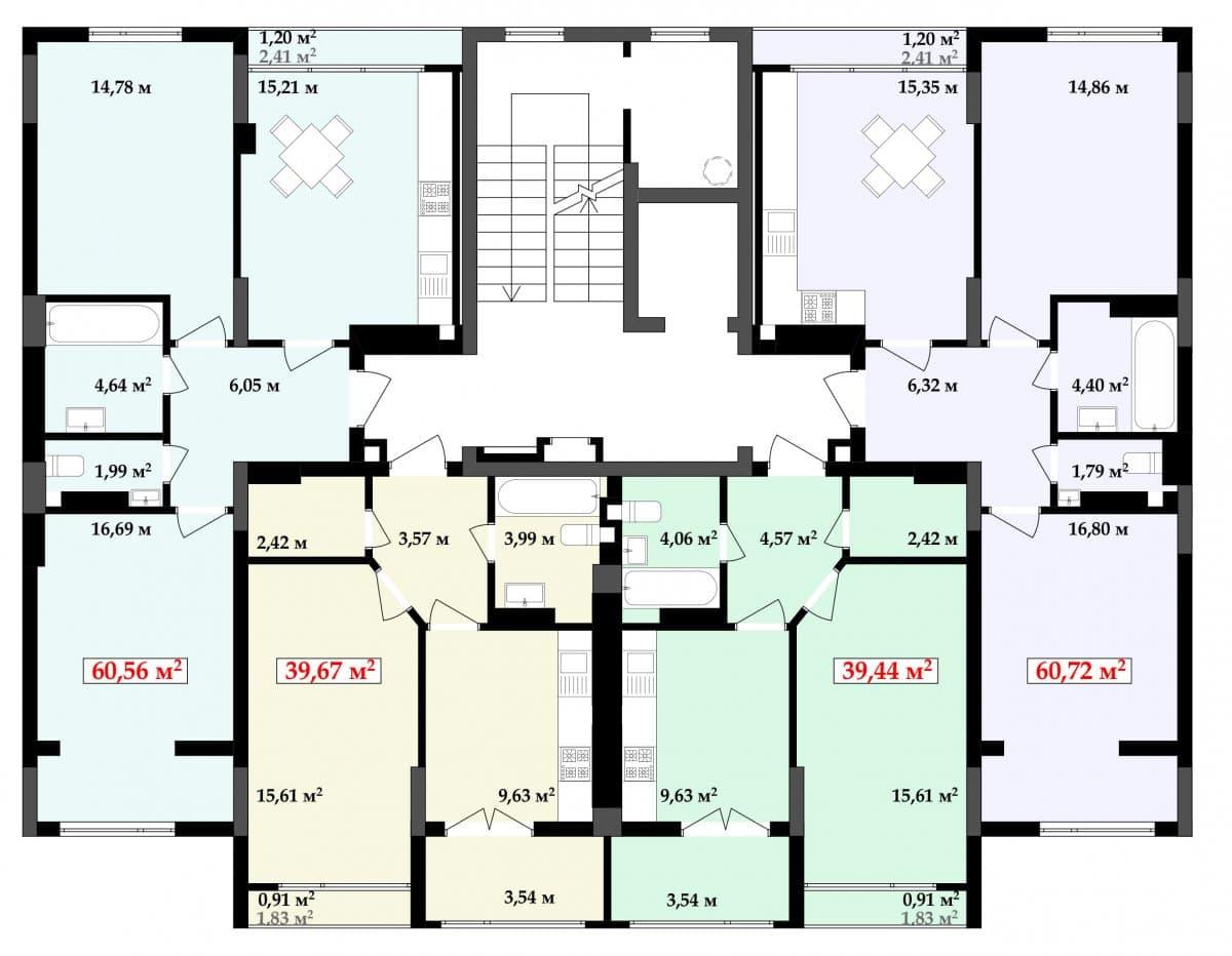 5 під'їзд: Планування квартир