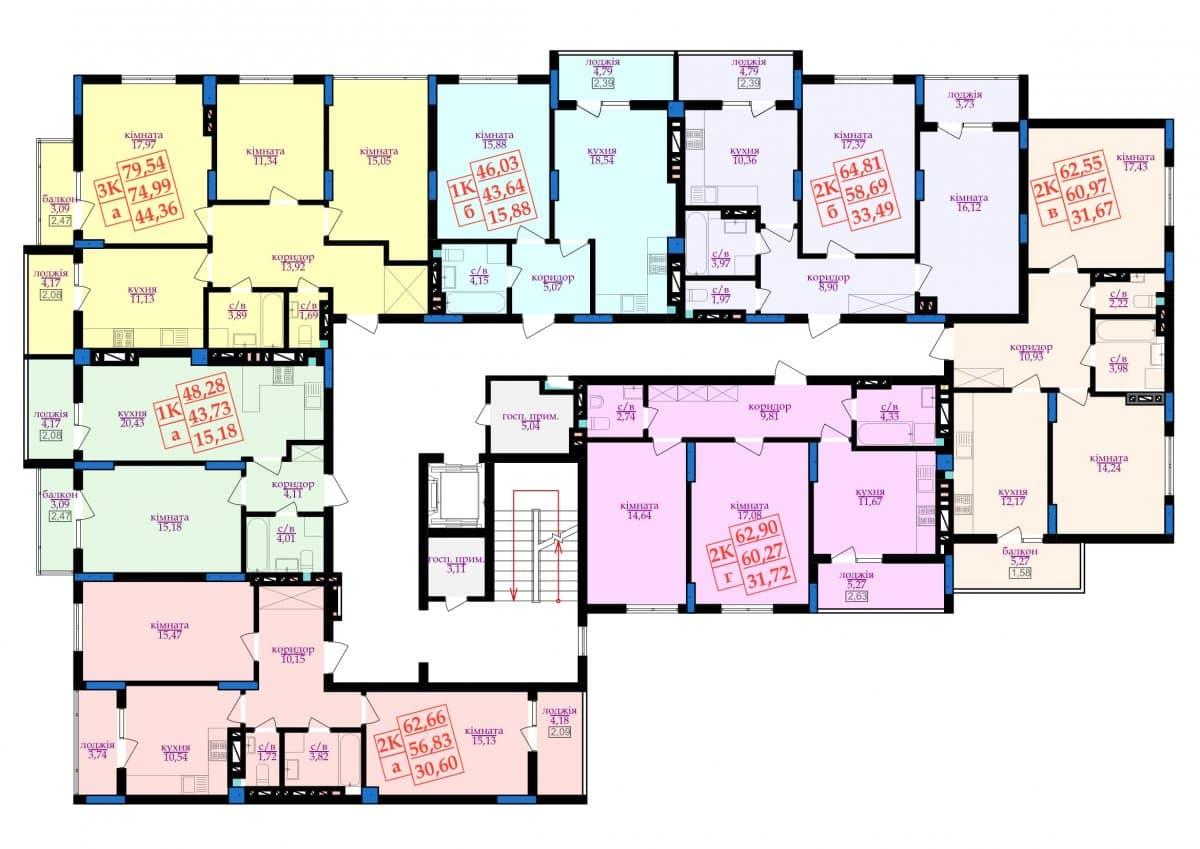 4 під'їзд: Планування квартир