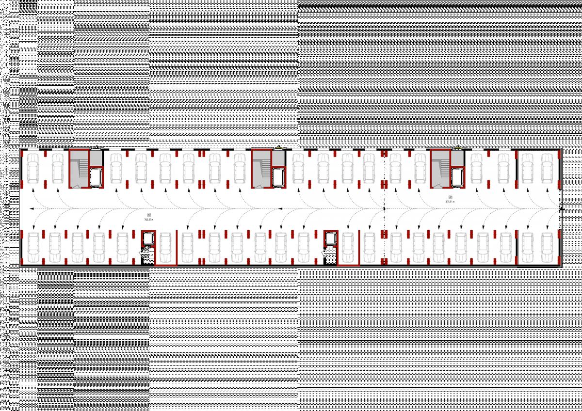 Паркінг (1-3 секції): Планування квартир